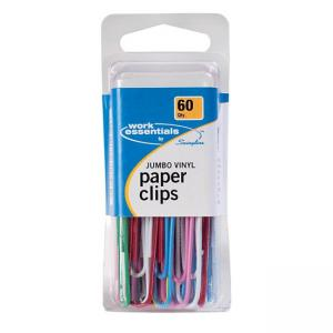 Swingline Jumbo Paper Clips - 60 / Pack - Assorted Colors