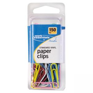 Swingline Standard Vinyl Coated Paper Clips - 150 / Pack - Assorted