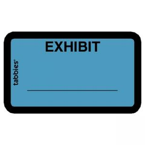 Tabbies Legal Exhibit Labels - Blue - 252 / Pack
