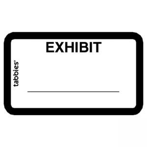 Tabbies Legal Exhibit Labels - White - 252 / Pack