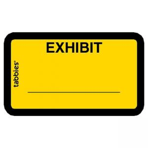 Tabbies Legal Exhibit Labels - Yellow - 252 / Pack