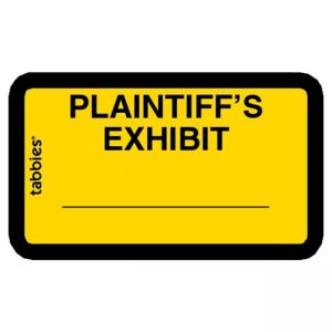 Tabbies Legal Plaintiffs Exhibit Labels - Yellow - 252 / Pack