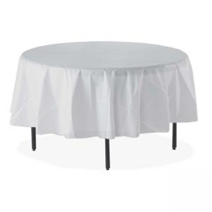 Tablemate Table Set Round Tablecovers - 6 /Pack - White