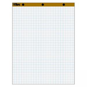 "Tops 1"" Grid Square Ruled Easel Pad -  2 / Carton"