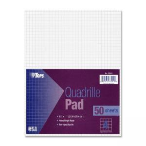 Tops White Quadrille Pad - 20 lb