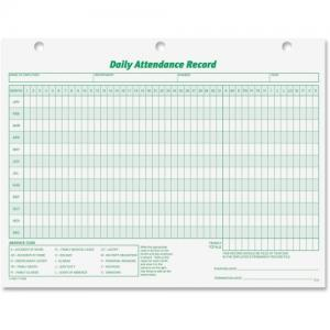 Tops Daily Attendance Record Form