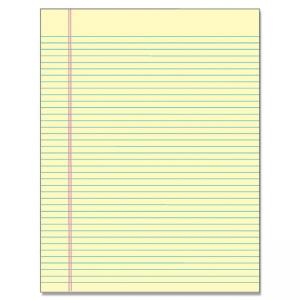 "Tops Glue Top Wide Ruled Legal Pad - Letter 8.50"" x 11"""