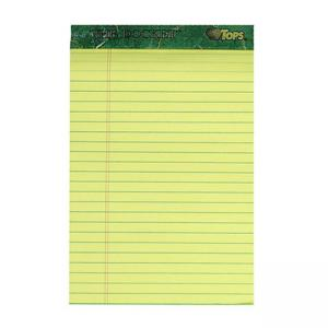 "Tops Prism Plus Colored Paper Pad - Jr.Legal 5"" x 8"""