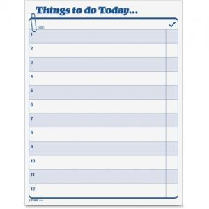 "Tops Things To Do Today Pad - 8.5"" x 11"""