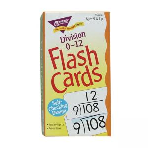 Trend Division Flash Cards - 1 Each