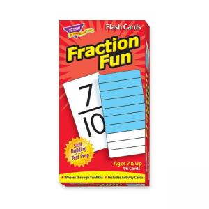 Trend Fraction Fun Flash Card - 1 Each