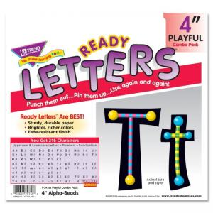 Trend Ready Letters Alpha-Beads - Learning Purpose