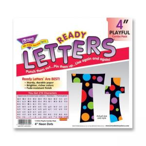 Trend Ready Letters with Neon Dots - Learning Purpose