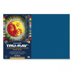 Tru-Ray Construction Paper - 50 / Pack - Blue