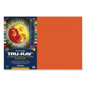 Tru-Ray Construction Paper - 50 / Pack - Orange