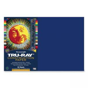 Tru-Ray Construction Paper - 50 / Pack - Royal Blue