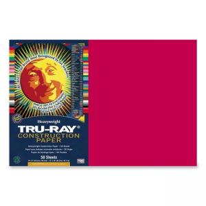 Tru-Ray Construction Paper - 1 / Pack - Scarlet