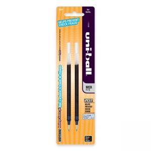 Uni-Ball Signo 207 Gel Pen Refill - 2 / Pack - Black Ink