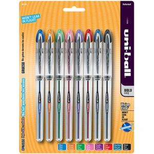 Uni-Ball Vision Elite Rollerball Pen - Assorted Ink - 8 / Pack
