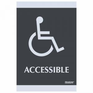 "U.S. Stamp and Sign Century Handicap Accessible Sign - 6"" Width x 9"" Height"