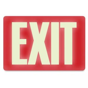 "U.S. Stamp and Sign Glow in the Dark EXIT Sign - 12"" Width x 8"" Height"