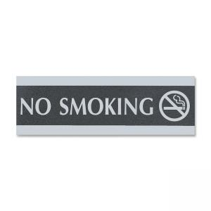 U.S. Stamp and Sign Century Series No Smoking Sign - Black - Silver