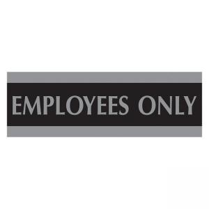 "U.S. Stamp and Sign Century Employees Only Sign - 9"" Width x 3"" Height"