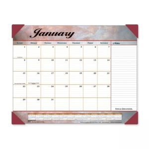 Visual Organizer Marble Look Desk Pad Calendar