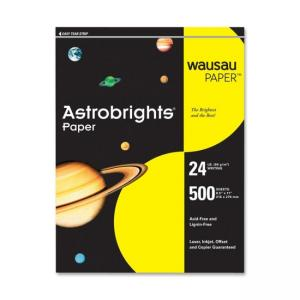 Wausau Paper Astrobrights Colored Paper - Solar Yellow - 500  Sheets