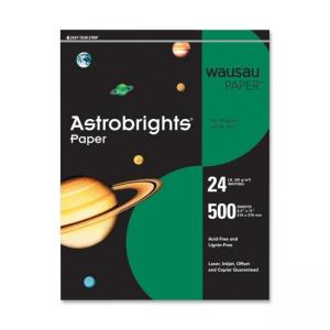 Wausau Paper Astrobrights Colored Paper - 500 / Ream - Gamma Green