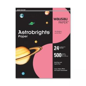 Wausau Paper Astrobrights Colored Paper - 500 / Ream - Plasma Pink