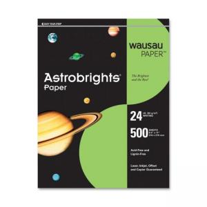 Wausau Paper Astrobrighs Colored Paper - Terra Green - 500 / Ream