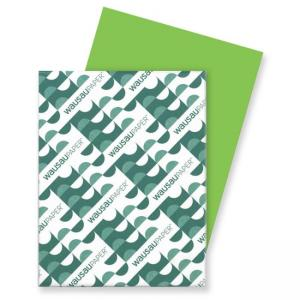 Wausau Paper Astrobrights Card Stock Paper - 250 / Pack - Terra Green