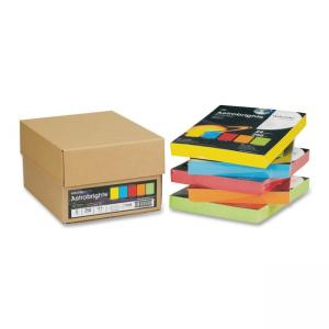 Wausau Paper Astrobrights Copy Paper - 1250 / Carton - Assorted Colors