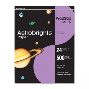 Wausau Paper Astrobrights Colored Paper - 500 / Ream -  Planetary Purple