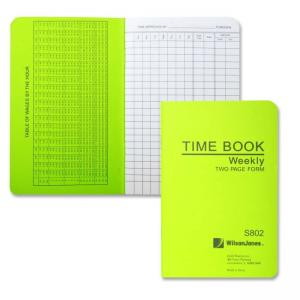 Wilson Jones Foremans Pocket Size Time Books - 21 Lines