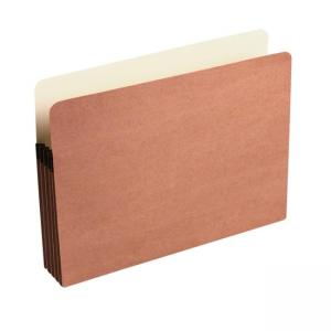 Wilson Jones Recycled Expansion File Pocket - Red - 1 Each