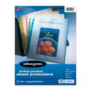 Wilson Jones Tinted Pocket Sheet Protector