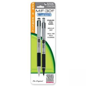M/F301 Pen/Pencil Set - 0.7 mm Pen Point Size - 0.5 mm Lead Size - Black Ink - 1 Pack