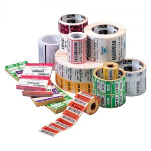 "Zebra Z-Perform 2000D Floodcoated Thermal Label - 4"" Width x 6"" Length - 430/Roll"