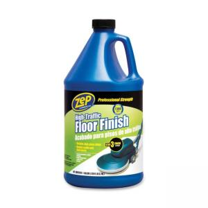 Zep Commercial High Traffic Floor Finish - 1 gal - Clear, Green
