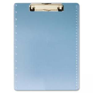 "OIC Low-profile Clip Acrylic Clipboard - 8.50"" x 11"" - Low-profile - Acrylic - Blue"