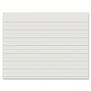 "Pacon Alternated Dotted Newsprint Paper - 500 - Ruled - Letter 8.50"" x 11"" - White Paper"