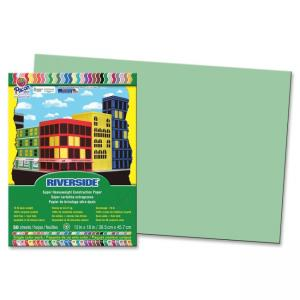 "Pacon Riverside Groundwood Construction Paper - 12"" x 18"" - Light Green"