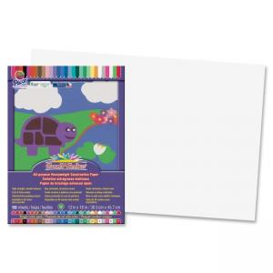 "Pacon SunWorks Groundwood Construction Paper - 18"" x 12"" - Bright White"