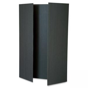 "Pacon Tri-fold Foam Presentation Board - 48"" Height x 36"" Width - Black Foam Board Surface"