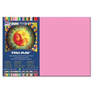 "Pacon Tru-Ray Construction Paper - 18"" x 12"" - Shocking Pink"