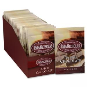 PapaNicholas Coffee Premium Hot Cocoa - Regular - Dutch Chocolate - 1 Carton