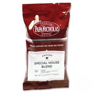 PapaNicholas Coffee Special House Blend Coffee - Regular - Arabica Bean, Special House Blend - Light/Mild - 1 / Carton