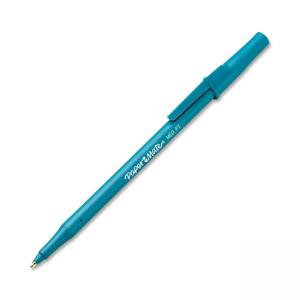 Paper Mate Write Bros Ballpoint Stick Pens Blue Ink 12 / Dozen
